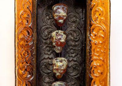 Amber Skull Cabinet