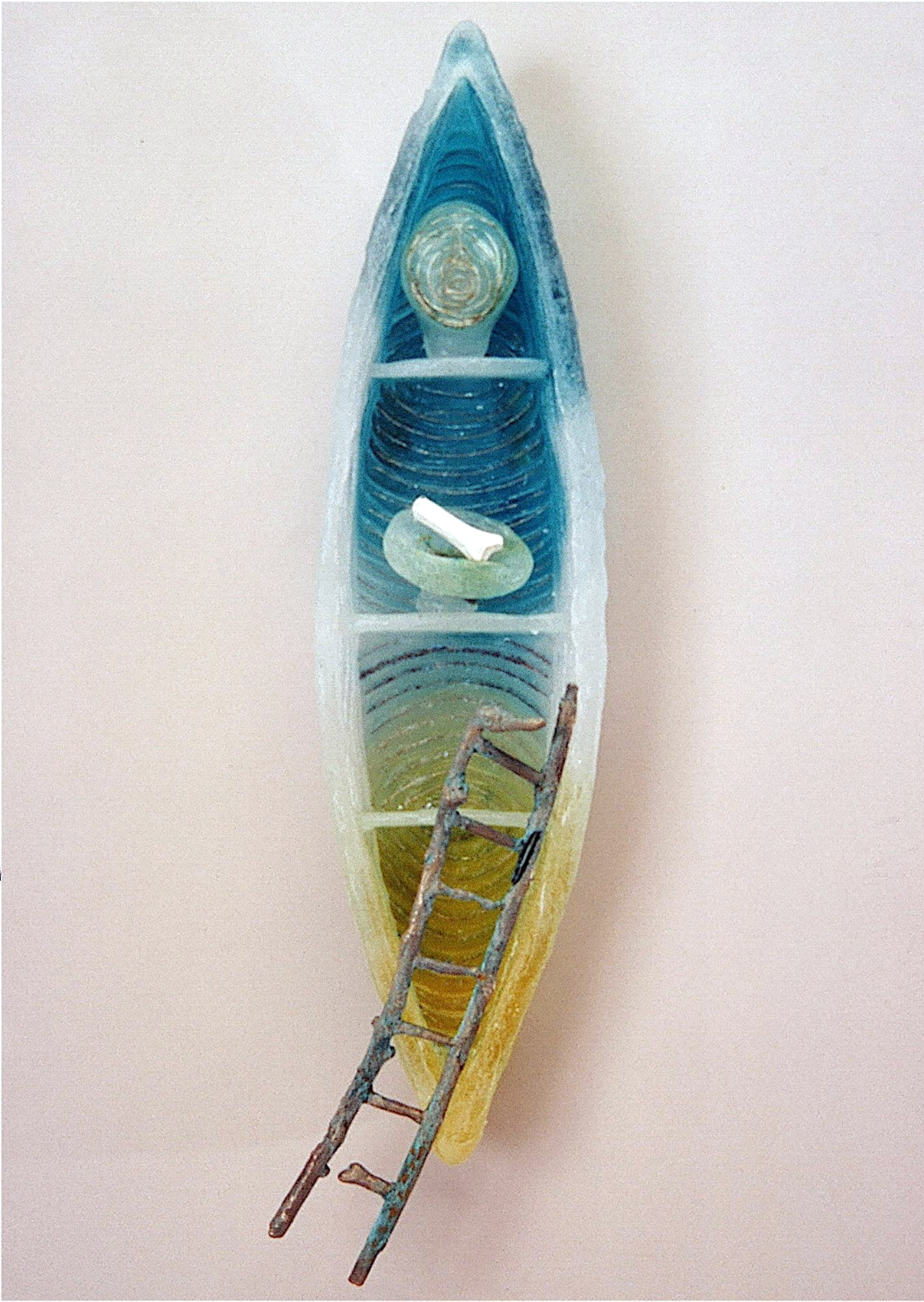 judeglass soul vessel ladder cast glass art